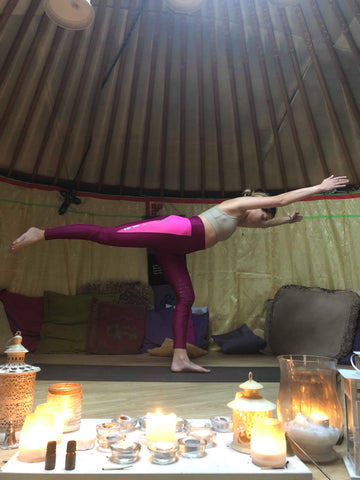 Yoga for horse riders Warrier 3 pose