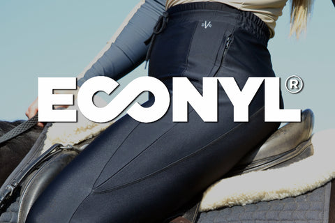 Econyl Recycled Fabric used in DVR Equestrian Dexter Trackpants