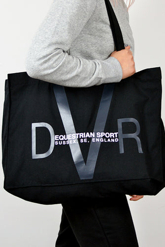 Heavyweight Slouchy Shopper Bag - Black