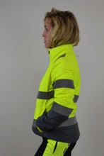 Lucy Puffer Jacket - Yellow W/Embroidery (Last Chance To Buy)