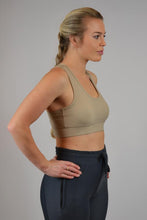 Chiara Recycled Compression Bra - Sand