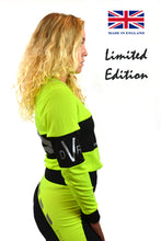 Limited Edition Performance Long Sleeve Ladies Cut - Lemon/Black Stripe