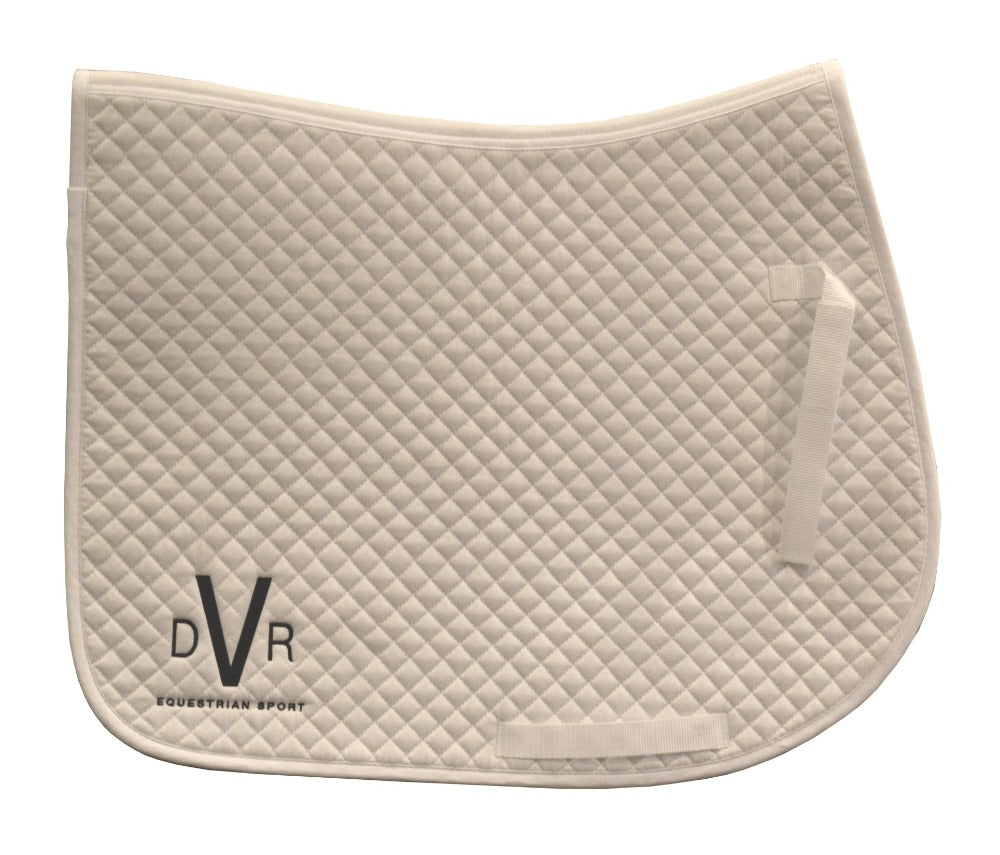 DVR Logo Saddle Cloth - White