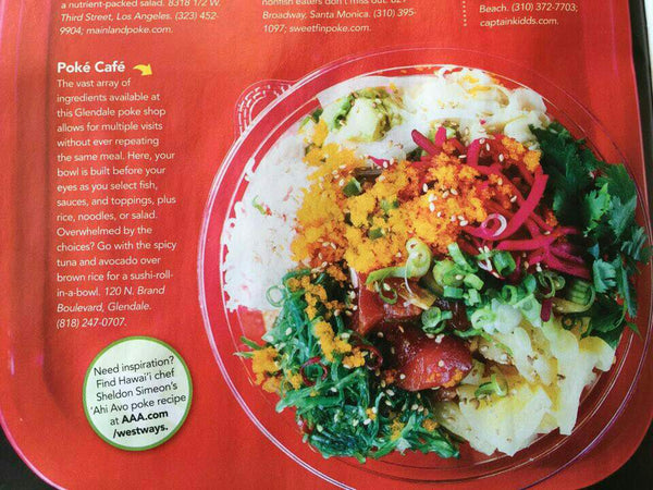 Westways AAA MAGAZINE features Poke Cafe