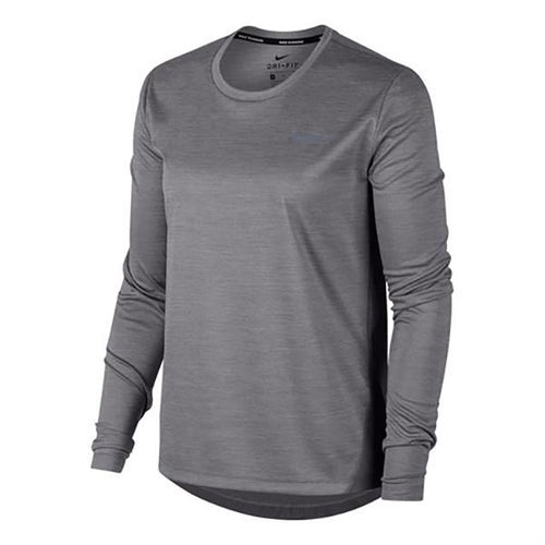 NIKE WOMEN MILLER TOP LS GREY