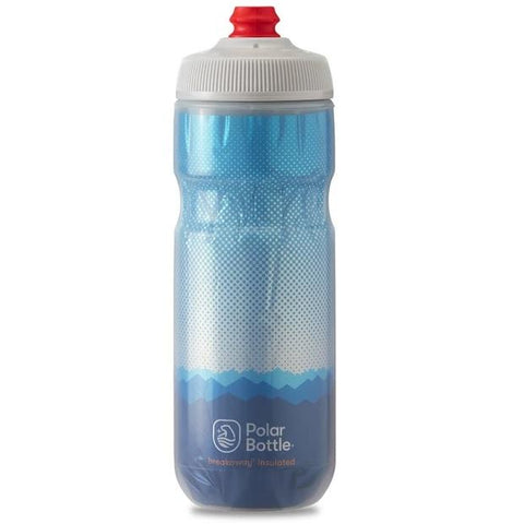 POLAR 20 OZ INSULATED BOTTLE RIDGE BLUE / SILVER
