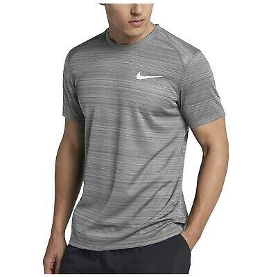 NIKE MEN DRY MILER TOP SS GREY