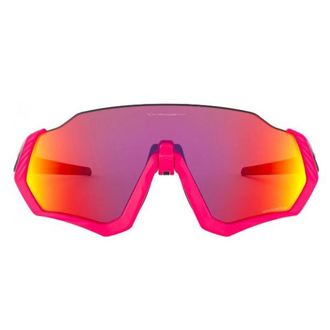 OAKLEY FLIGHT JACKET NEON PINK PRIZM ROAD