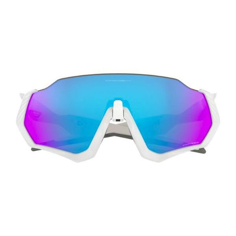 OAKLEY FLIGHT JACKET POLISHED WHITE PRIZM SAPPHIRE IRIDIUM