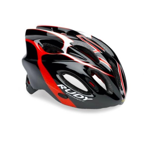 RUDY PROJECT CASCO SNUGGY BLACK RED WHITE SHINY T.L