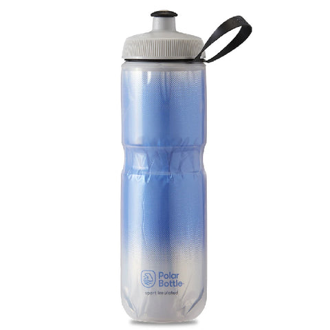 POLAR 24 OZ INSULATED BOTTLE RIDGE BLUE / SILVER