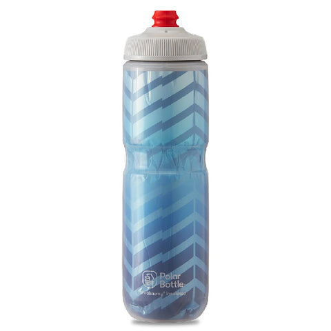 POLAR 24 OZ INSULATED BOTTLE BOLT BLUE / SILVER