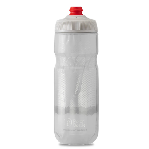 POLAR 24 OZ INSULATED BOTTLE RIGDE WHITE / SILVER