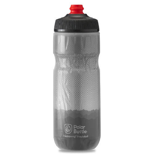 POLAR 24 OZ INSULATED BOTTLE RIDGE CHARCOAL /SILVER