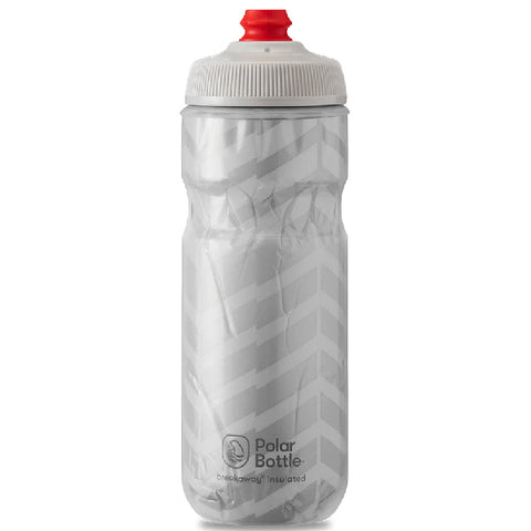 POLAR 24 OZ INSULATED BOTTLE BOLT WHITE / SILVER