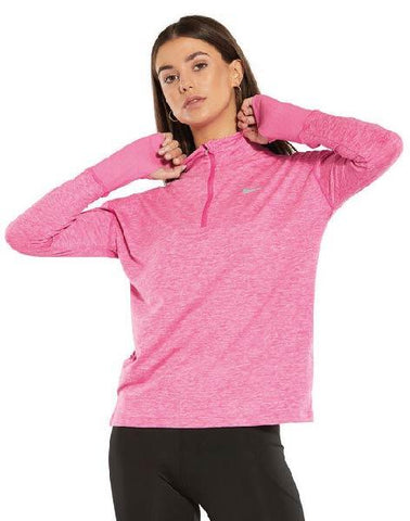 NIKE WOMEN ELMNT TOP PINK T. XS