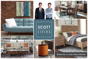 Scott Living intro to Dining, Living, and Bedroom Collections