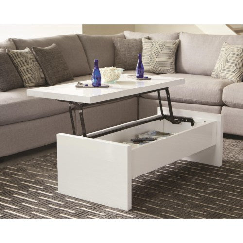 Glossy White Lift Top Coffee Table