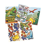 DINOSAUR PARTY Sticker Book Dinosaurs T Rex Favour Gift Pack of 4 Free Postage