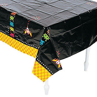 80's theme space invaders tablecover