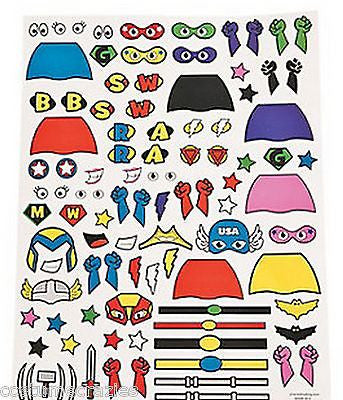 Superhero Sticker Sheets