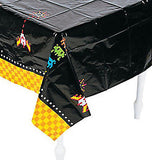 80s PARTY Space Invaders Arcade Game Table Cover Plastic Tablecloth Free Postage