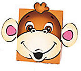 Zoo Animal Small Treat Box Party Boxes Elephant Lion Monkey Pack of 6 Free Post