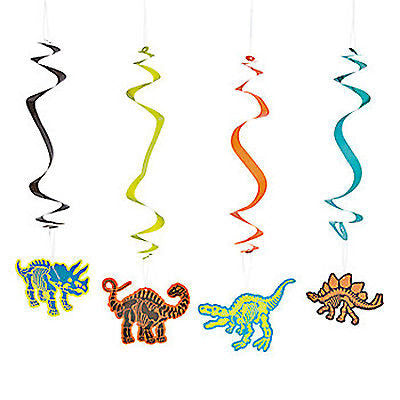 DINOSAUR PARTY Dinosaur Danglers Hanging Decorations Pack of 6 Free Postage
