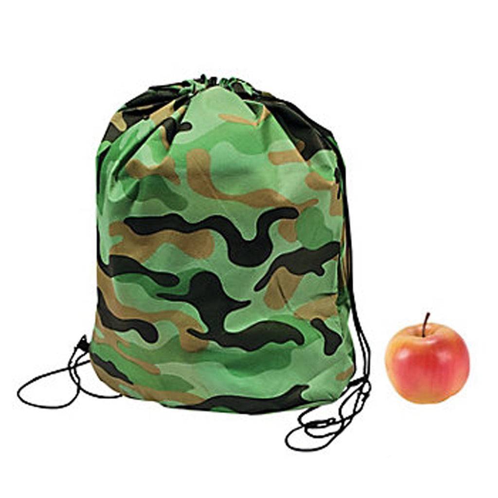 Camouflage Army Party Lightweight Camo Backpack Kit Party Bag Free Postage