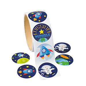 Space and Astronaut Stickers pack of 50