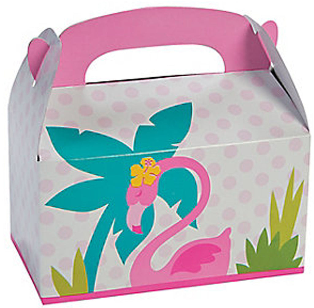 Pink flamingo Treat Boxes - Party by Post