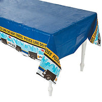 Police theme party Tablecover