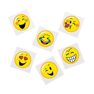 EMOJI PARTY ~ Smiley Face Tattoos - Temporary Tattoo - pack of 36 - Free Delivery