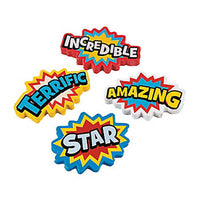 SUPERHERO PARTY Large Erasers Heroes Pencil Eraser Rubbers Pk of 4 Free Postage