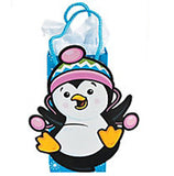 PENGUIN PARTY Gift Bags with Rope Handles Winter Penguins Set of 3 Free Postage