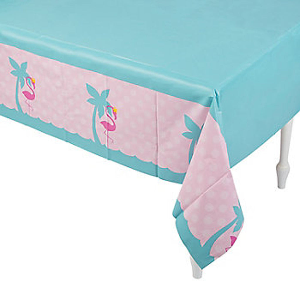 Pink Flamingo Party tablecover