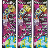 OUTER SPACE PARTY Out Of This World Bookmarks Favour 15cm Pack of 12 Free Postage