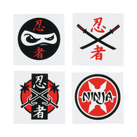 NINJA PARTY FAVOUR ~ Ninja Warrior Temporary Tattoos - Pack of 36 - Free Postage