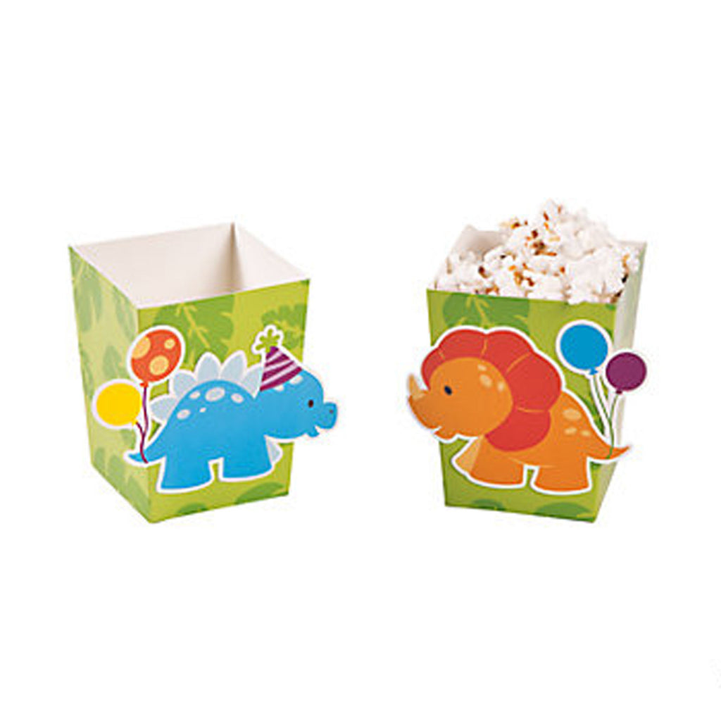 DINOSAUR PARTY Little Dino Cute Mini Popcorn Boxes Box Pack of 6 Free Postage