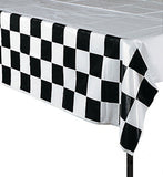 RACING PARTY Table Cover Chequered Flag Design Tablecover Tablecloth Free Post