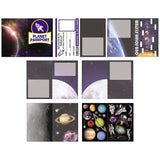OUTER SPACE Planet Passport Sticker Book Party Favours Pack of 3 Free Postage