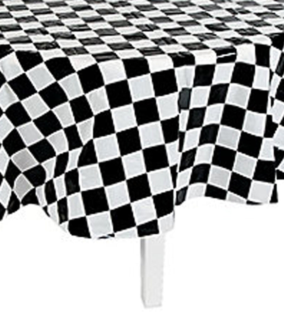 Racing Car Party Chequered Flag Round Tablecover Tablecloth