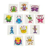 OUTER SPACE PARTY Alien Monster Creature Tattoo Temporary Tattoo Pk 36 Free Post