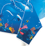 DOLPHIN PARTY Tropical Theme Table Cover Tablecloth 137cm x 274cm Free Postage