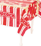 MOVIE NIGHT Popcorn Tablecover Table Cover Plastic Circus Tablecloth Free Post