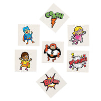 SUPERHERO PARTY FAVOUR ~  Superhero - Temporary Tattoo - pack of 36 - Free Delivery