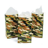 Camouflage Army Party ~ Camo Print Paper Bags - pack of 12 - Free Delivery