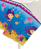UNDER THE SEA Mermaid Tablecover Tablecloth Table Cover 137cm x 274cm Free Post