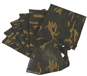 Camouflage Party Army Style Camo Bandanna Bandana Scarf Pack of 4 Free Postage
