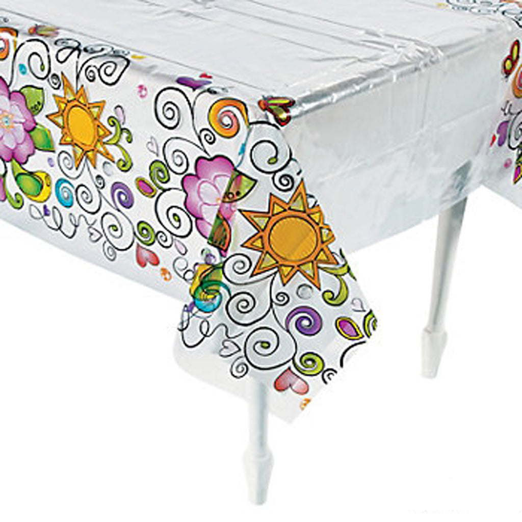 GLITZY CHICK ~ Plastic Tablecover / Tablecloth